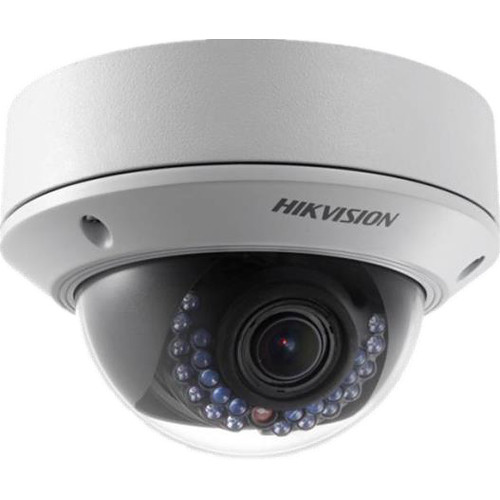 Hikvision 2MP Vandal-Resistant Outdoor Network Dome Camera with 2.8-12mm Varifocal Lens & Night Vision (White)
