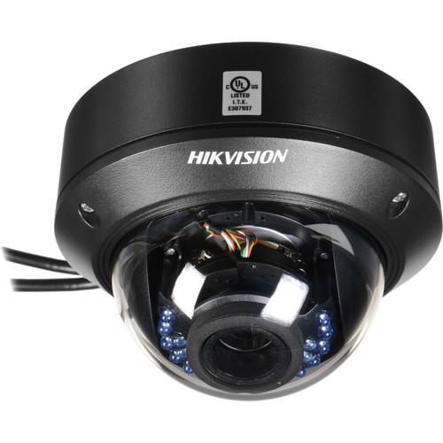Hikvision 4MP Vandal-Resistant Outdoor Network Dome Camera with 2.8-12mm Varifocal Lens & Night Vision (Black)