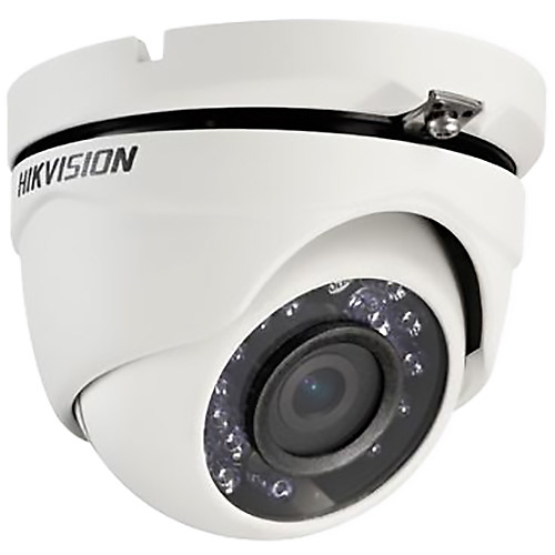 Hikvision TurboHD Series 2MP Outdoor HD-TVI Turret Camera with Night Vision and 3.6mm Lens (White)