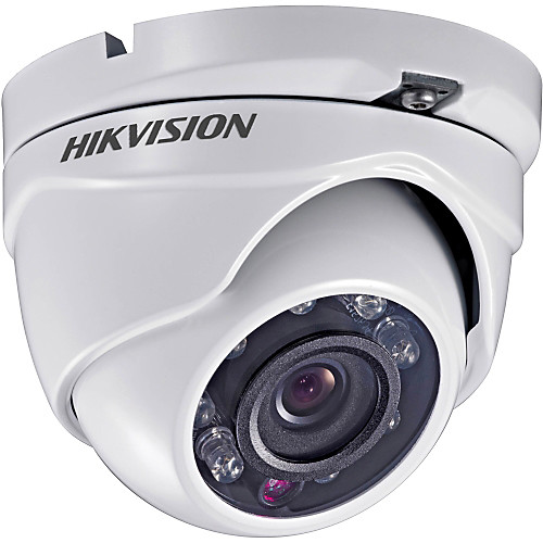 Hikvision TurboHD Series 2MP Outdoor HD-TVI Turret Camera with Night Vision and 2.8mm Lens (White)
