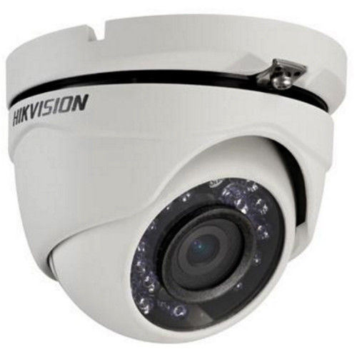 Hikvision TurboHD Series 2MP Outdoor HD-TVI Turret Camera with Night Vision and 6mm Lens (Black)