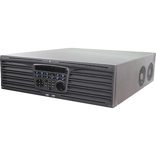 Hikvision NVR, 64-Channel, H.264/H.264+/H.265/H.265+, Up To 12MP, HDMI (1-4K 1- 1080P), 16-Sata, No HDD