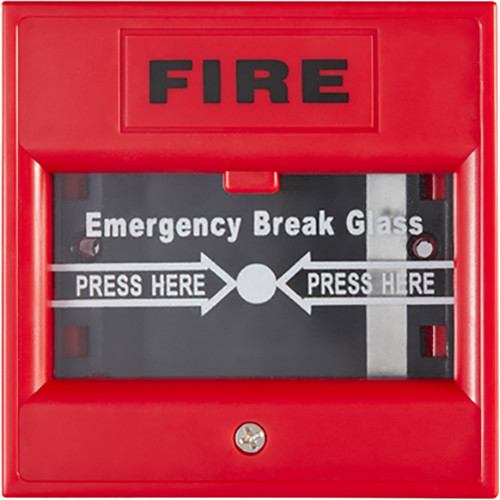 Hikvision DS-K7PEB Emergency Break Glass Box (Red)