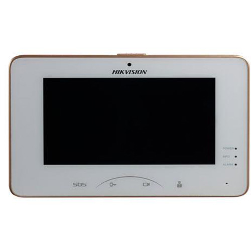 "Hikvision DS-KH8301-WT 7"" Indoor Color Touchscreen Video Intercom Station"