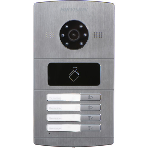 Hikvision DS-KV8402-IM 4-Channel Outdoor Video Intercom Door Station