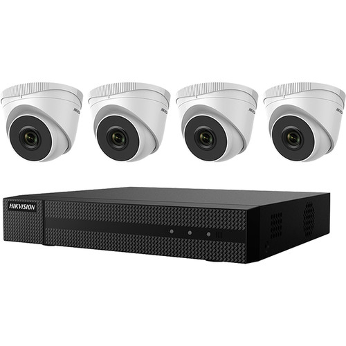 Hikvision EKI-Q41T44 4-Channel 4MP NVR with 1TB HDD & 4 4MP Night Vision Turret Cameras Kit