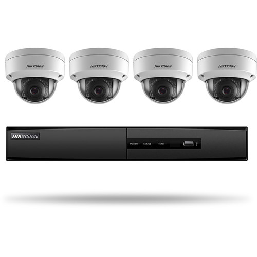 Hikvision Super Value Series 4-Channel 5MP NVR with 1TB HDD and 4 2MP Outdoor Dome Cameras Kit