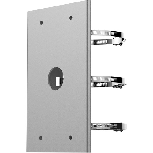 """Hikvision PMP-JB-G Horizontal Pole Mounting Bracket for Speed Dome (4-8"""" Diameter, Gray)"""