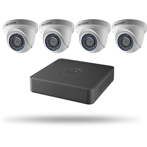 Hikvision TurboHD 4-Channel 1080p DVR with 1TB HDD and 4 1080p Outdoor Turret Cameras Kit