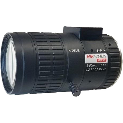 "Hikvision 4MP, 5-50mm, 1/2.7"", F1.6, CS Mount Lens"