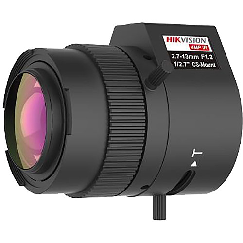 "Hikvision 4MP, 2.7-13mm, 1/2.7"", F1.2, CS Mount Lens"