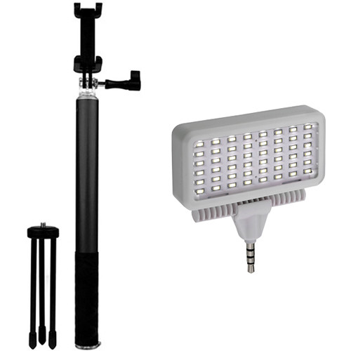 HISY WING Selfie Stick and Tripod with Mobile LED Light Kit