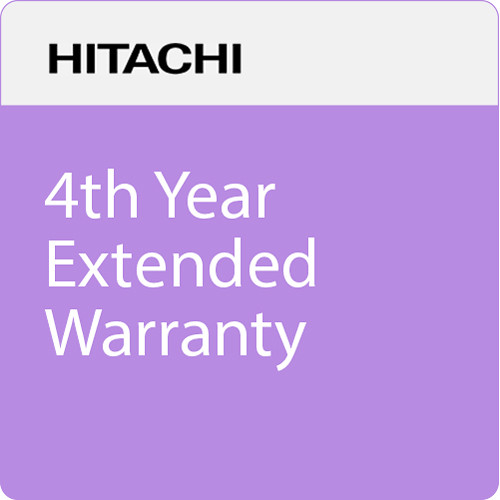 Hitachi 4th Year Extended Warranty for CPEU4501WN, CPEX5001WN, and CPEW5001WN Projectors