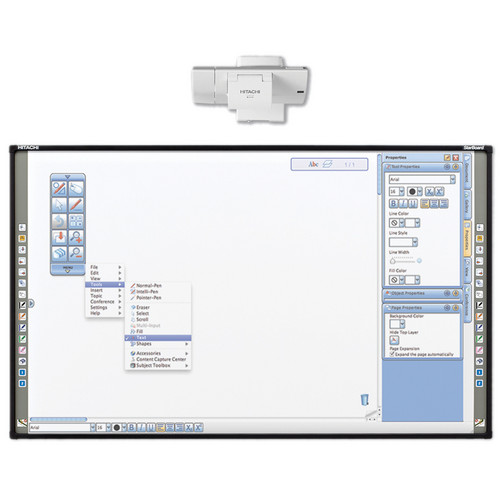 "Hitachi FX-89WE1 89"" Interactive Whiteboard with StarBoard Software"