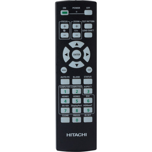 Hitachi HL02806 Replacement Remote for LP-WU9100B and LP-WU9750B Projectors