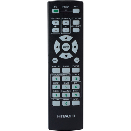 Hitachi HL03141 Replacement Remote Control for LP-WU9750B Projector