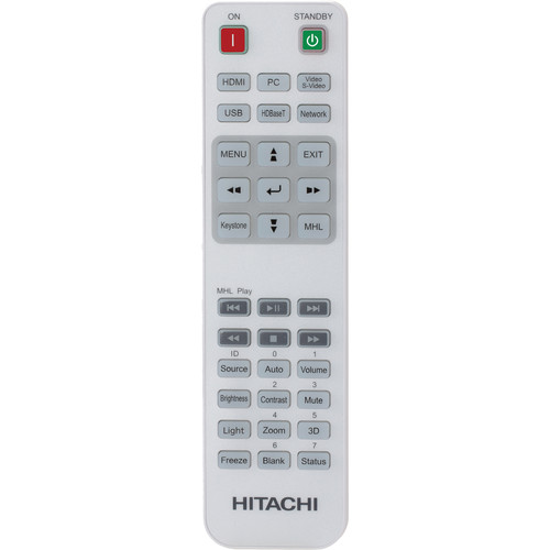 Hitachi HL03171 Replacement Remote Control for LP-WU6700, LP-WU6600, and LP-WU6500 Projectors