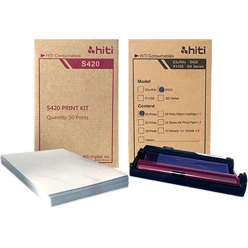 "HiTi 4 x 6"" Media Pack for S420 Passport ID Photo Printer (50 Prints)"