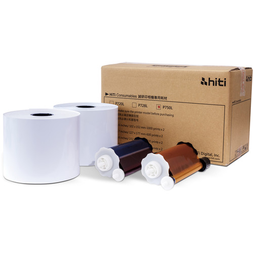 "HiTi P750L Ribbon & Paper Case (6 x 8"", 1000 Prints)"
