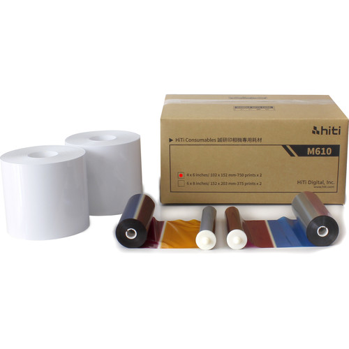 "HiTi M610 4 x 6"" Print Kit (1500 Prints)"