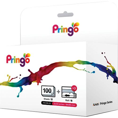HiTi Paper and Ribbon Case for Pringo P231 Printer (100 Sheets)