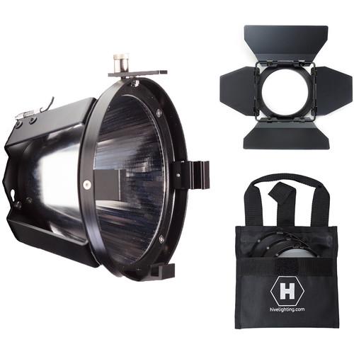 HIVE LIGHTING PAR Reflector, Barndoors, 3-Lens Set for Hornet 200-C LED Light