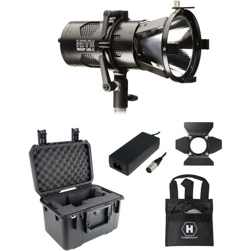 HIVE LIGHTING Wasp 100-C LED Spot Light Kit with Stand and Custom Foam Case