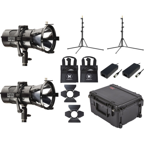HIVE LIGHTING 2-Piece Wasp 100-C LED Spot Light Kit with 2 Stands & Custom Foam Case