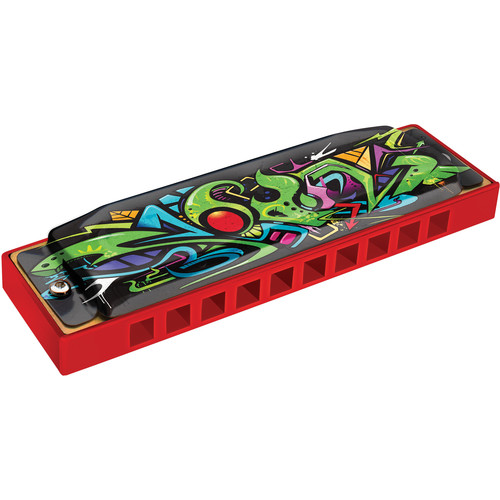 Hohner Red Dragon Tagged Series Harmonica (Red, Key of C)