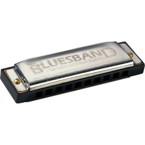 hohner blues band harmonica with retail box key of c 1501bx c. Black Bedroom Furniture Sets. Home Design Ideas