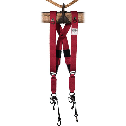 HoldFast Gear MoneyMaker Two-Camera Swagg Harness (Red, Cotton Canvas)