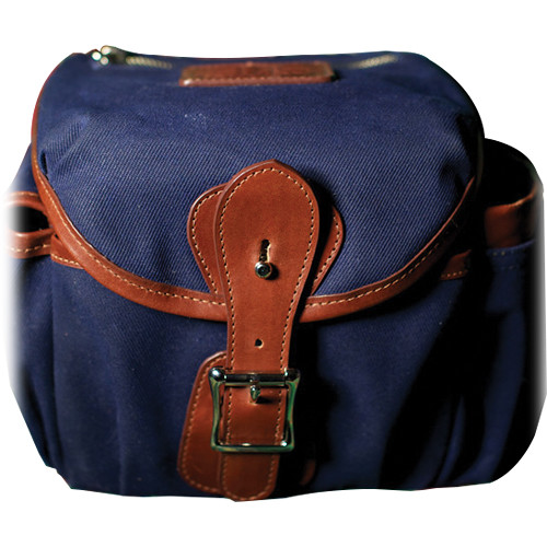 HoldFast Gear Explorer Small Lens Pouch (Navy with Chestnut Trim)