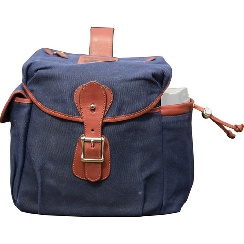 HoldFast Gear Explorer Large Lens Pouch (Navy with Chestnut Trim)