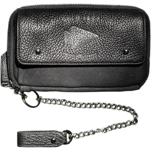 HoldFast Gear Explorer American Bison Leather Wallet (Black)