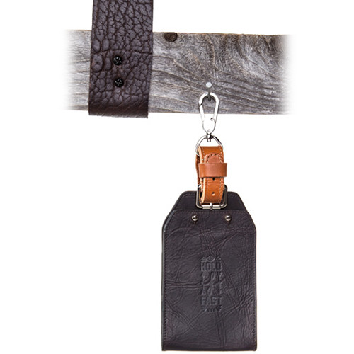 HoldFast Gear Roamographer Collection Luggage Tag Wallet (American Bison Dark Brown)