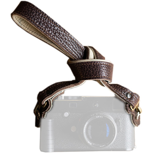 """HoldFast Gear 46"""" Maven Classic American Bison Leather Camera Strap with Hooks & Pads (Mahogany)"""