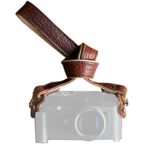 "HoldFast Gear 52"" Maven Classic American Bison Leather Camera Strap with Hooks & Pads (Peanut)"