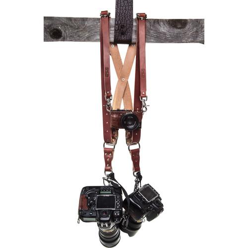 HoldFast Gear Money Maker Three-Camera Harness (English Bridle, Chestnut, Regular)