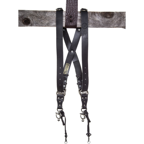 HoldFast Gear Money Maker Two-Camera Harness (Water Buffalo, Black, Small Size)
