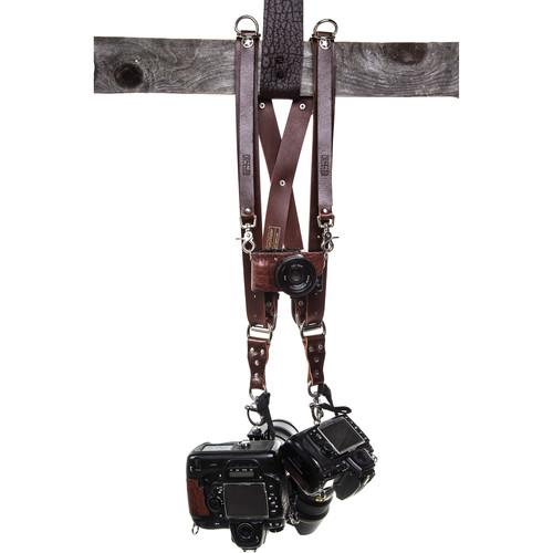 HoldFast Gear Money Maker Three-Camera Harness (Water Buffalo, Burgundy, Medium Size)