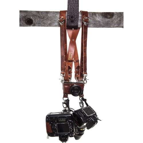 HoldFast Gear Money Maker Three-Camera Harness (Water Buffalo, Tan, Large Size)