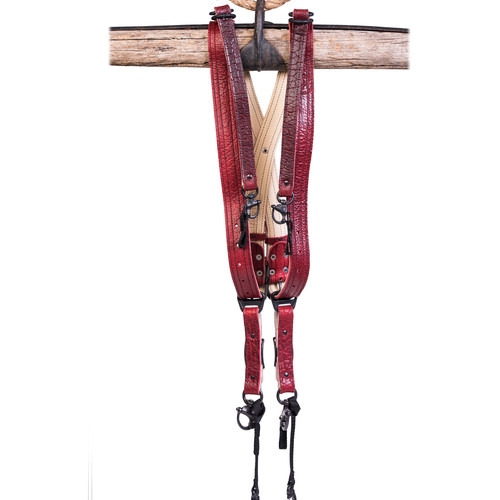 HoldFast Gear Money Maker Three-Camera Harness (American Bison, Red, Large)