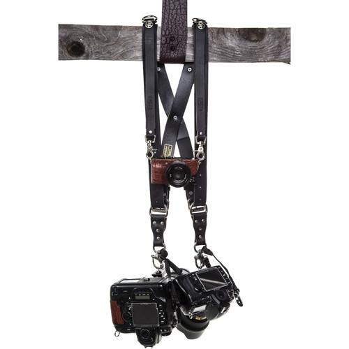 HoldFast Gear Money Maker Three-Camera Harness (Water Buffalo, Black, Medium Size)