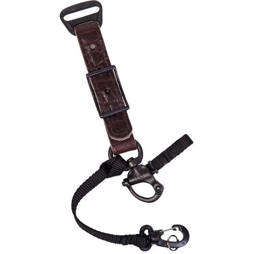 HoldFast Gear Adjustable Portrait Slider for MoneyMaker Harness (American Bison Leather, Mahogany)