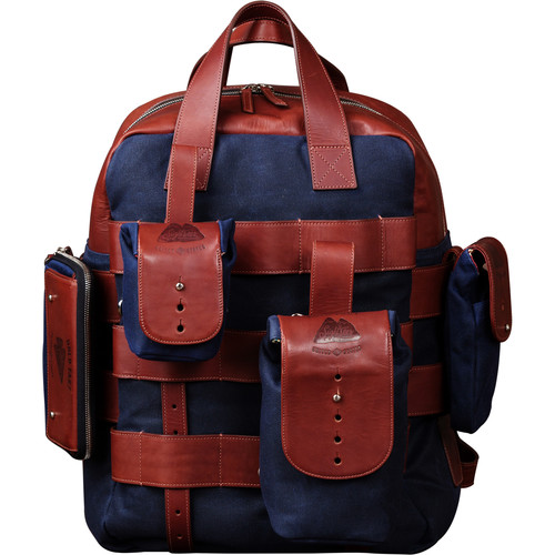 HoldFast Gear Sightseer Backpack System (Navy with Leather Trim)