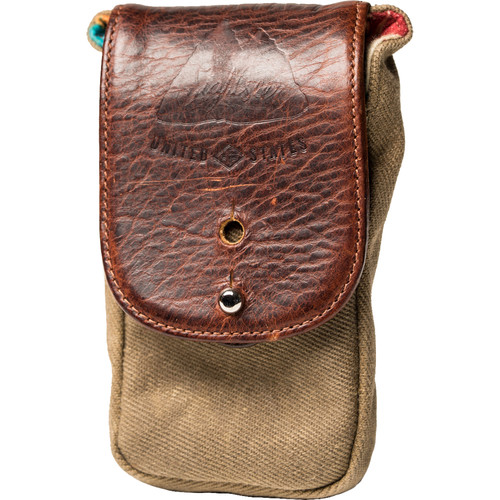 HoldFast Gear Large Sightseer Cell Pouch (Olive/Brown)
