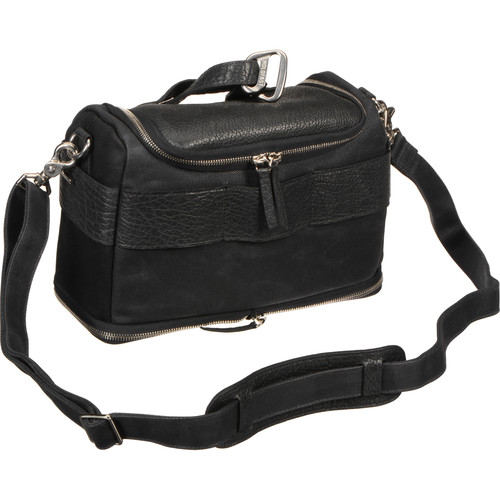 HoldFast Gear Sightseer Lens Bag (Black with Leather Trim)