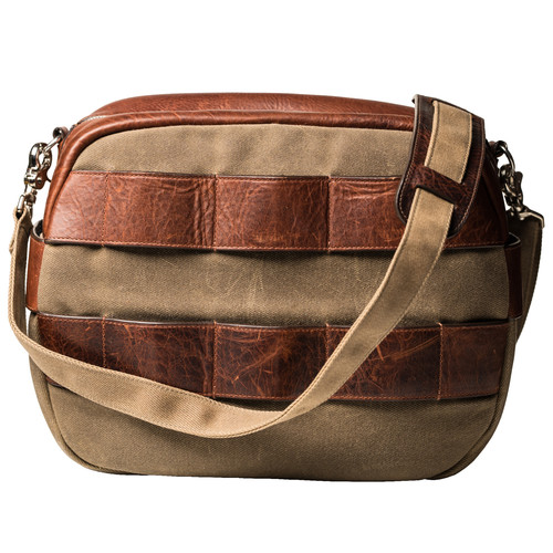 HoldFast Gear Sightseer Lens Bag (Olive with Leather Trim)