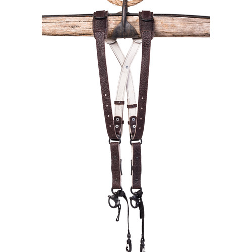 HoldFast Gear Money Maker American Bison Skinny 2 Camera Harness (Mahogany, Large)