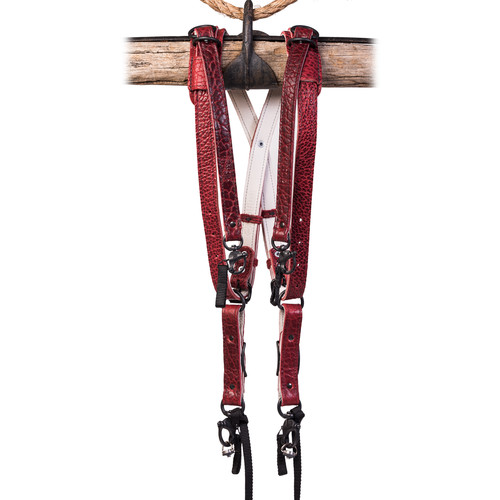HoldFast Gear Money Maker American Bison Skinny 3 Camera Harness (Red, Small)